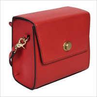 Ladies Red Leather Sling Handbags
