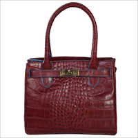 Ladies Burgundy Leather Handbags