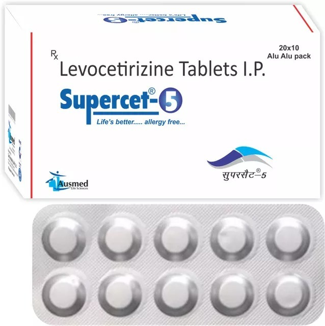 Levocetirizine Hydrochloride 5mg./supercet-5