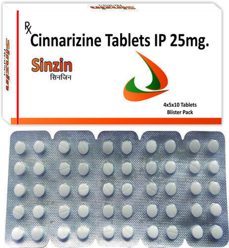 Cinnarzine Ip 25 Mg./ Sinzin 25