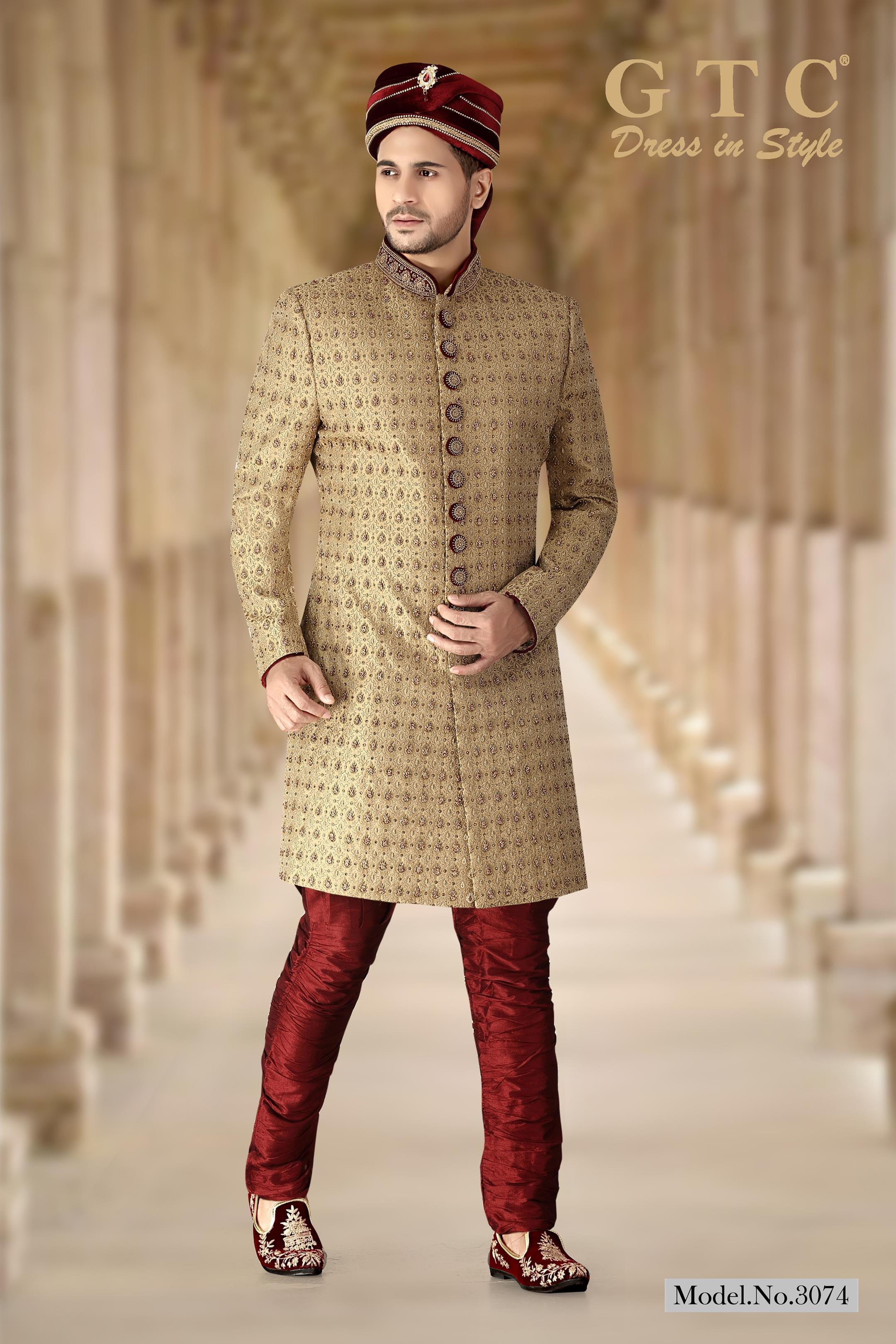 3074 Designer Sherwani
