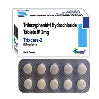Trihexyphenidyl Hydrochloride Ip 2mg./trixcare-2