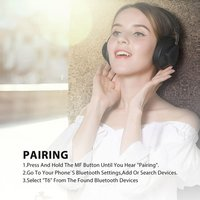 TM Wireless Bluetooth Headphone With Microphone Monitor Studio Headset