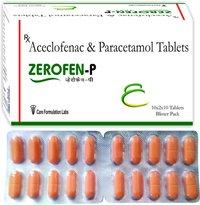 Aceclofenac 100mg + Paracetamol 325mg.