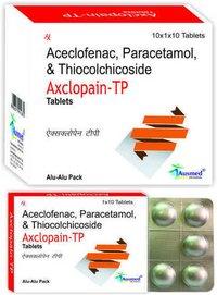 Thiocolchicoside  IP 4 mg. + Aceclofenac 100mg. + Paracetamol IP 325/AXCLOPAIN-TP
