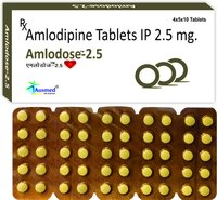 Amlodipine Besylate IP Eq. to Amlodipine  2.5 mg./AMLODOSE-2.5