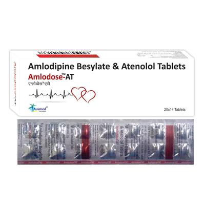 Amlodipine 5mg + Atenolol  IP 50mg./AMLODOSE-AT
