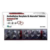 Amlodipine 5mg + Atenolol  IP 50mg./AMLODOSE-AT