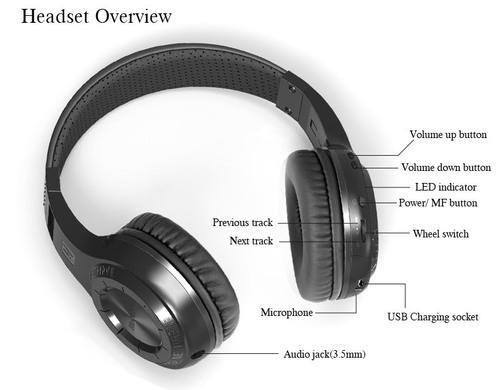 Ht Bluetooth Headphones Stereo Headset
