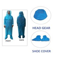 Safety Sugical Gown + Head Gear + Shoe Cover