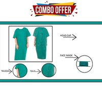 Combo Offer Surgical Green Patient Gown