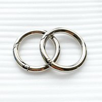 High Quality Antique Sliver Metal Aolly Bag Round O Ring Handbag Link Buckle/Ring for Bag Accessories HD323-19