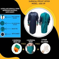 Autoclave Surgical Gown Impervious Material (With Sheet)