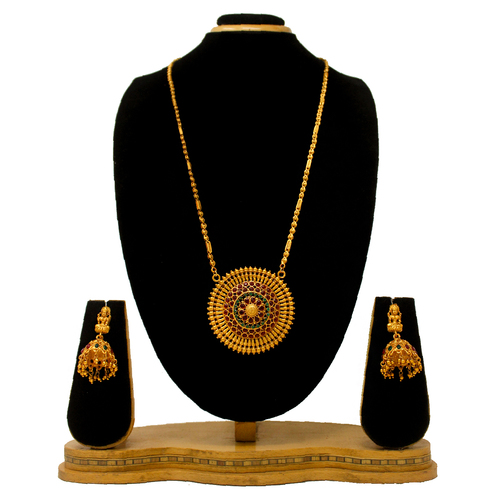 Latest New Design Gold Plated Pendant Set(Red&green)