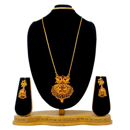 Fancy New Design Gold Pendant Set