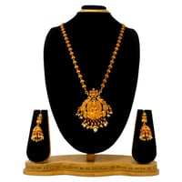 New Design Gold Plated Pendant Set (Red&green)