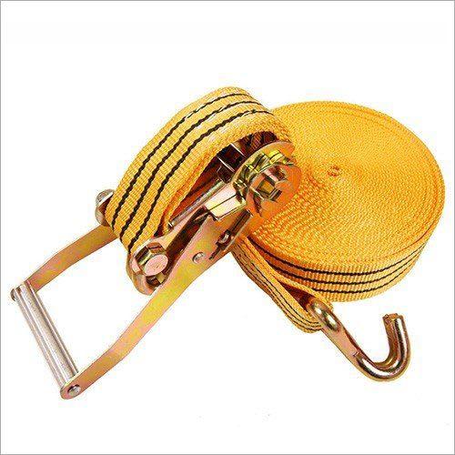 Double J Hooks Ratchet Lashing Belt