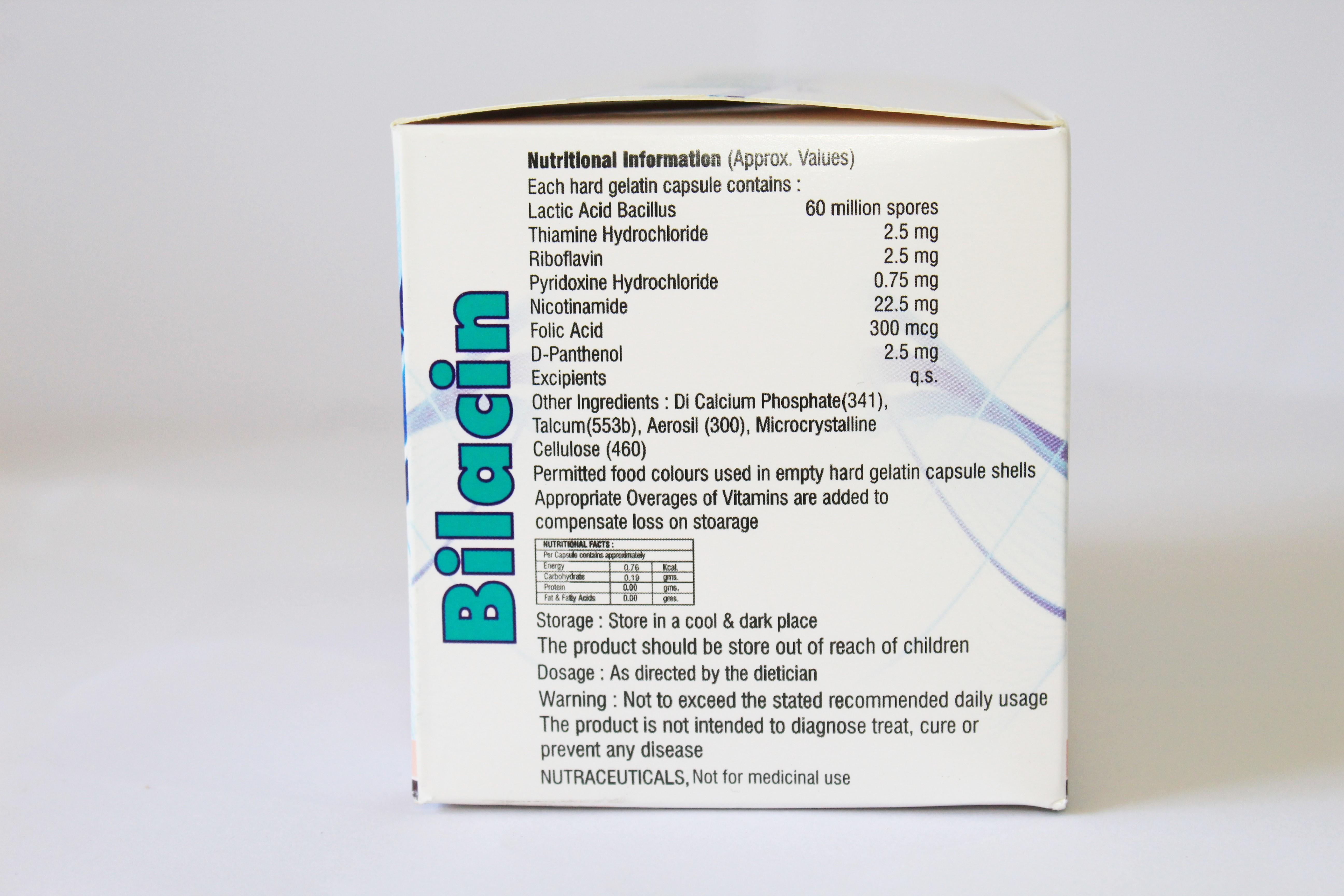 Vitamin-b Complex With Lactic Acid Bacillus Capsules