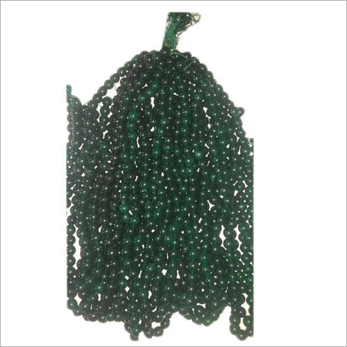 Dark Green Agate Beads
