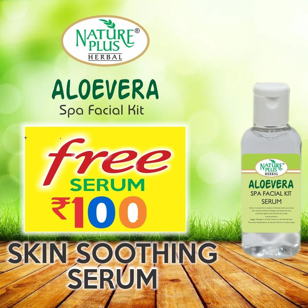 NATURE PLUS HERBAL ALOEVERA SPA FACIAL KIT, 370gm