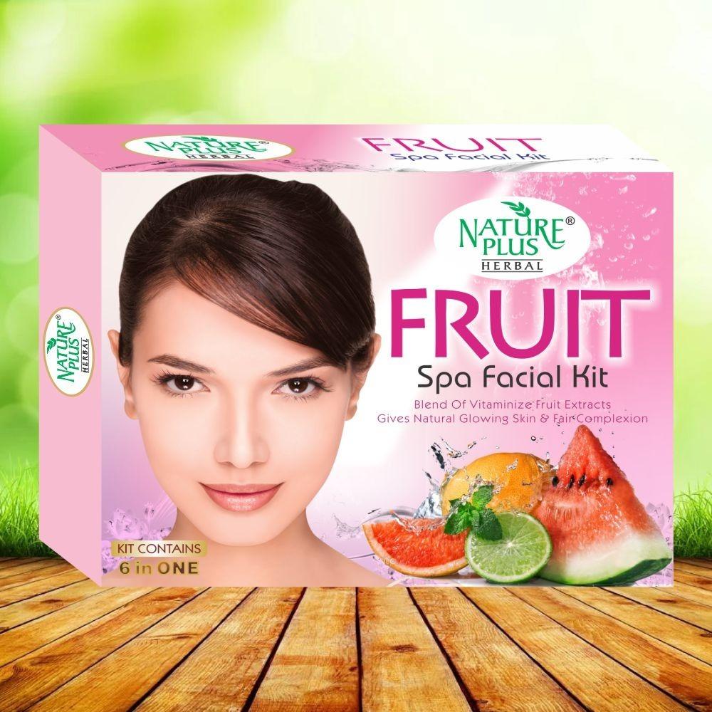 NATURE PLUS HERBAL FRUIT SPA FACIAL KIT, 370gm