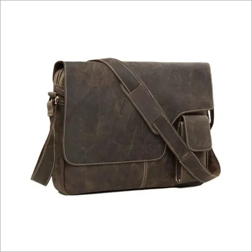 Buffalo Leather Laptop Messenger Bag