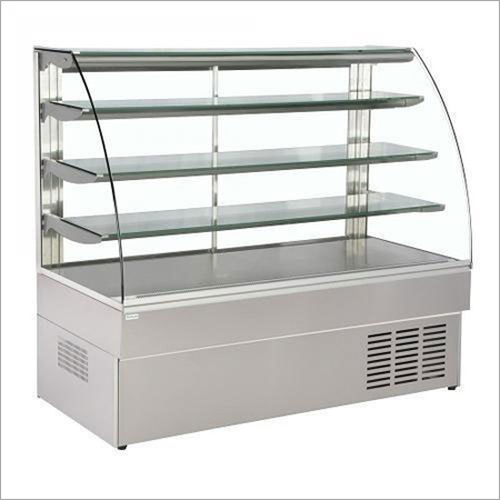 Toughened Curved Glass Sweet Display Counter