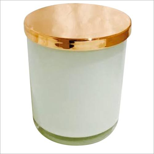 Glass Candle Jar Wooden Lid
