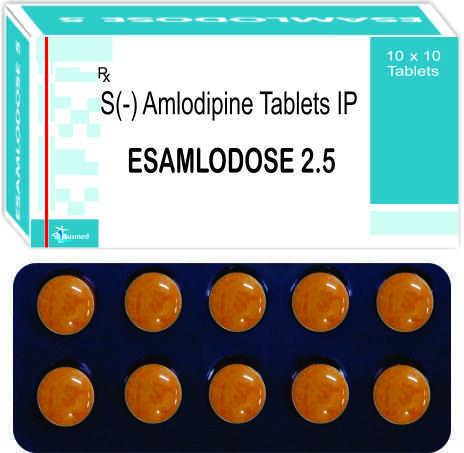 S(-) Amlodipine Besylate IP eq. to S(-) Amlodipine  2.5mg./ESAMLODOSE-2.5