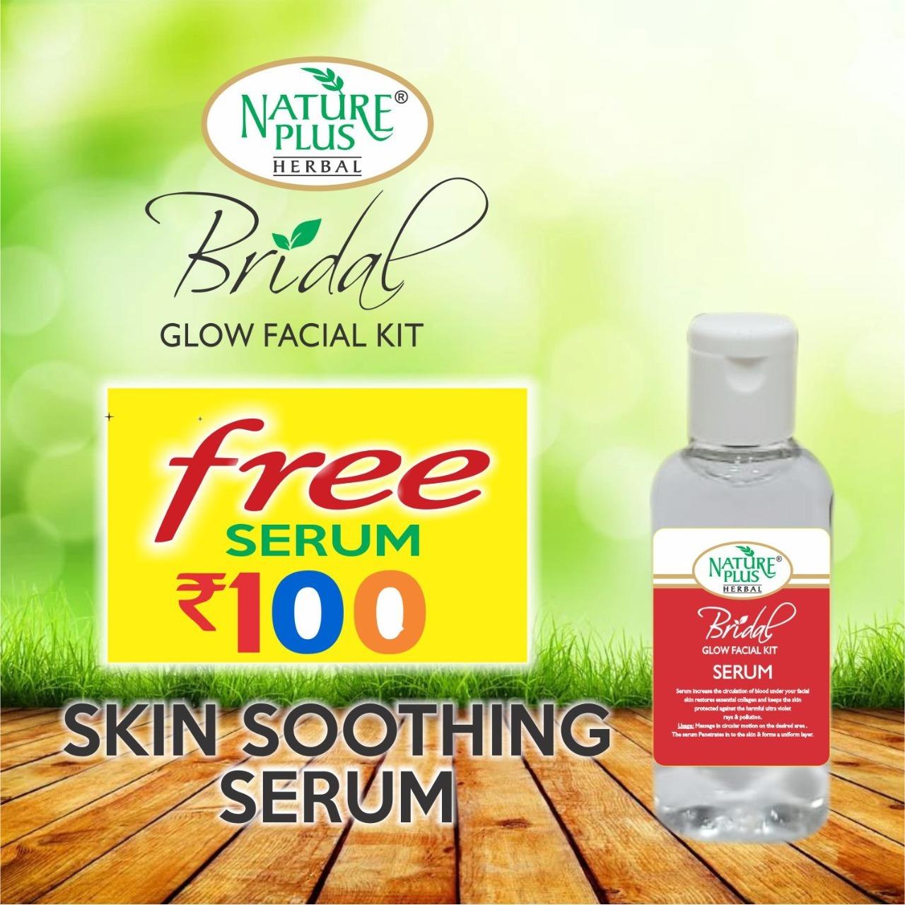 Nature Plus Herbal Bridal Glow Facial Kit, 370gm