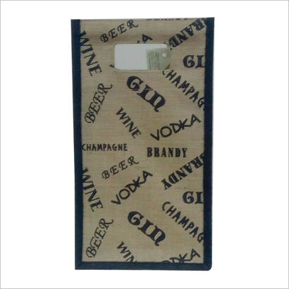 As Per Your Choice Jute Wine Bottle Carry Bag