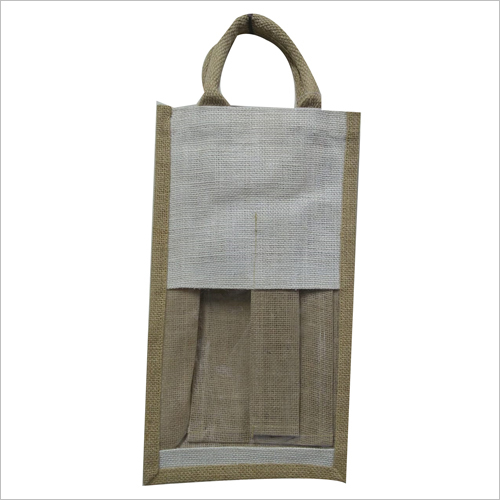 2 Bottle Jute Wine Bag