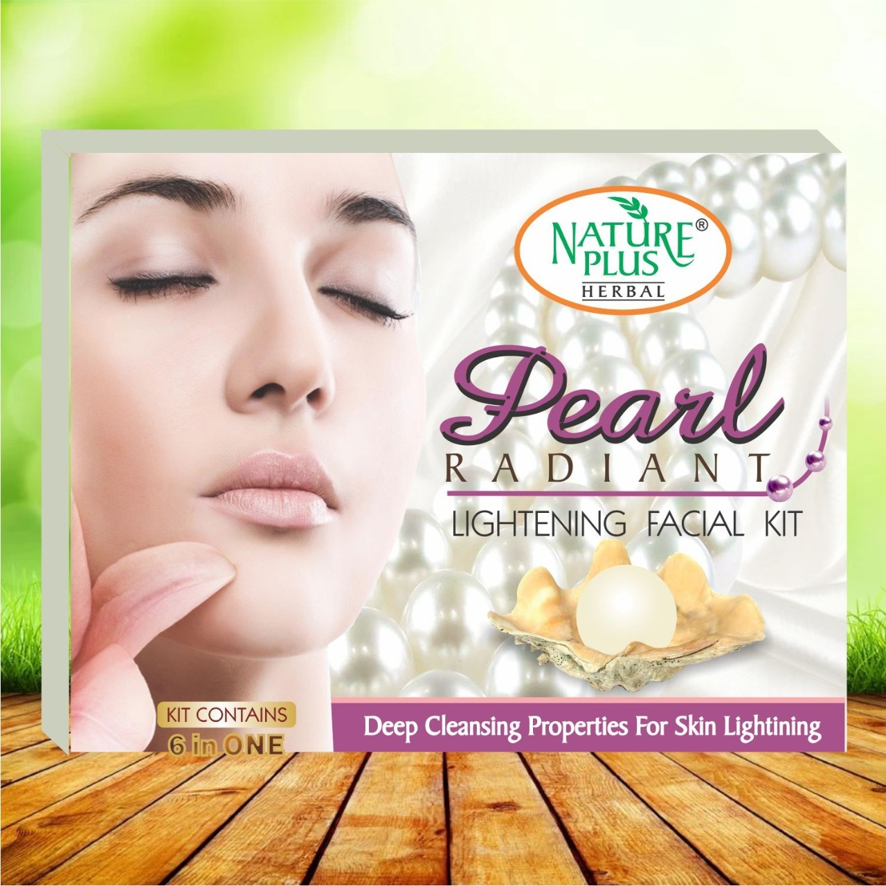 Nature Plus Pearl Radiant Lightening Facial Kit, 370