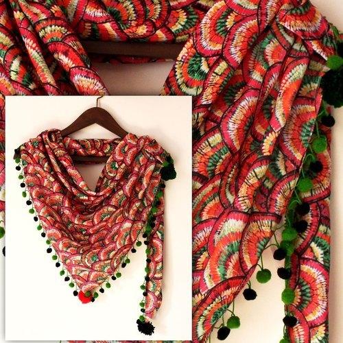 Crepe Digital Printed Scarf Fabric