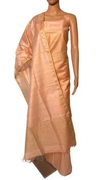 Pure Linen Silk Suit Set .