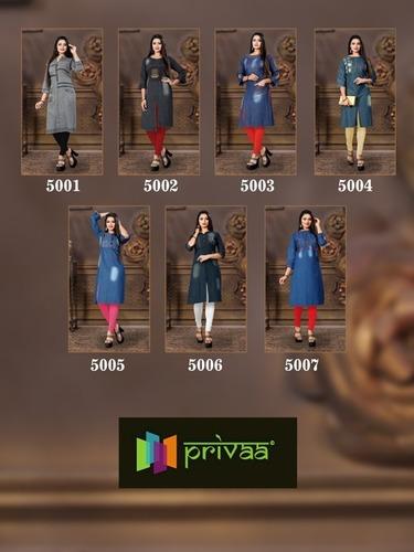 Privaa By Chokidar Vol-5 Ladies Kurti