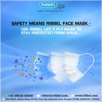 Ribbel Life 3-Ply Disposable Face Mask.