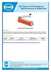 Hand Operated Impulse Sealer QS 400 D