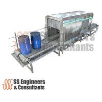 Barrel washer machine