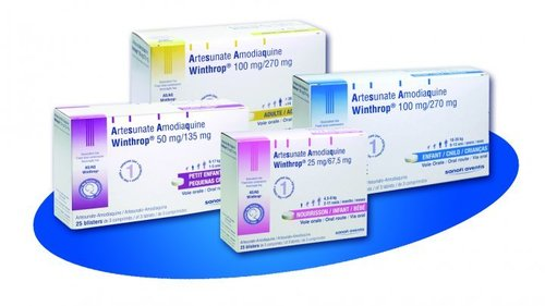 Artesunate and Amodiaquine Tablets