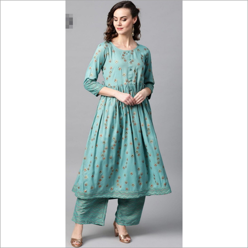Ladies Frock Style Kurtis With Palazzo