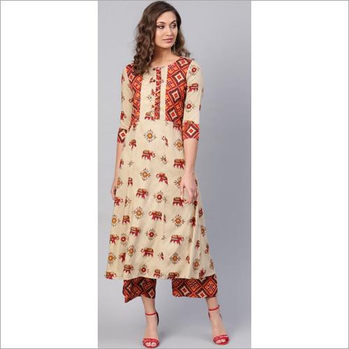 Ladies Jaipuri Style Kurtis With Palazzo