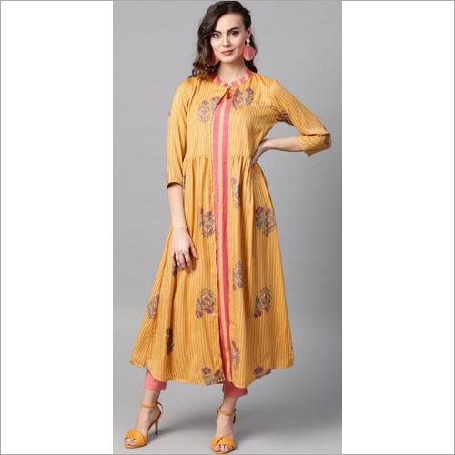 Ladies Designer Kurti With Shrug