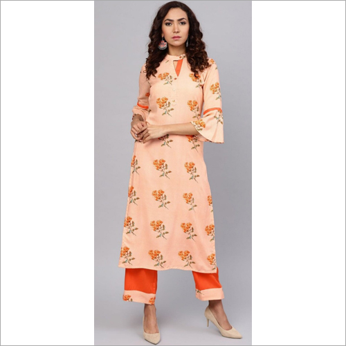 Ladies Rayon Kurtis With Palazzo