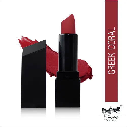 Chariot New York Greek Coral Creme Lipstick