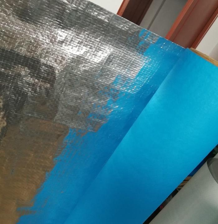 aluminum foil with polyethylene reinforced radiant barrier attic foil