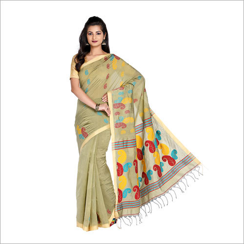 Ladies Designer Print Handloom Saree