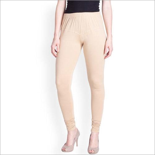 Ladies Beige Lyra Churidar Leggings