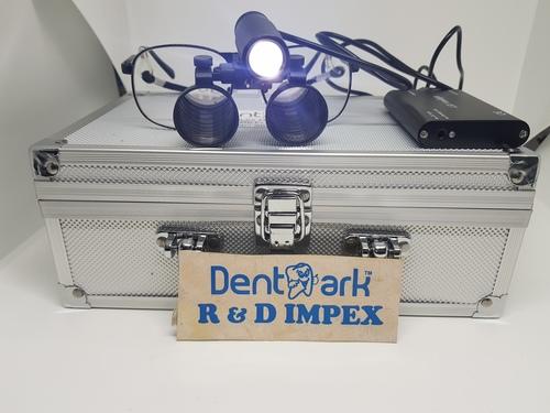 Dentmark Dental Premium Loupes 2.5x(Metal Frame) With Advance Light