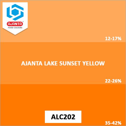 Ajanta Lake Sunset Yellow Colours